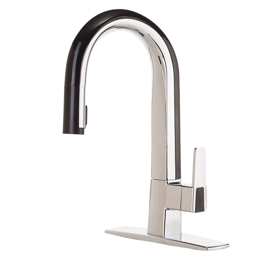 kitchen faucet black art cleanflo matisse single handle pull down sprayer in chrome and