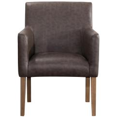 Lexington Dining Chairs Nantucket Beach Chair Company Homepop Brown Faux Leather K7091 Yq P0017 The Home Depot