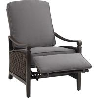 Hanover Strathmere All-Weather Wicker Reclining Patio ...