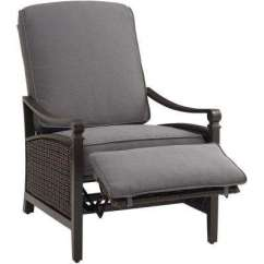 Recliner Patio Chair Zebco Fishing Reclining Wicker Furniture Aluminum Chairs Carson Chestnut And Espresso All Weather Outdoor Lounge