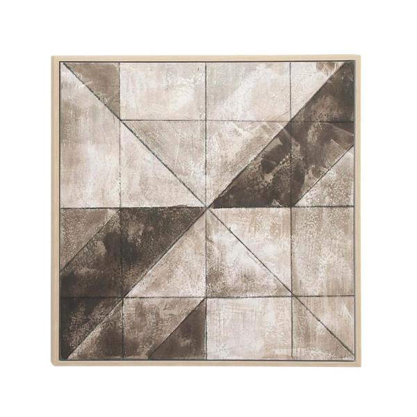 abstract geometric shapes framed