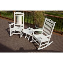 Trex Outdoor Furniture Yacht Club Classic White 3-piece