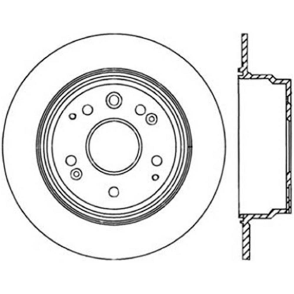 Centric Parts Disc Brake Rotor 2001-2003 Acura CL-121