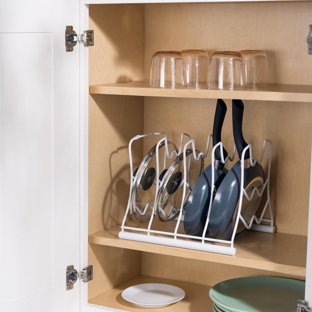pot racks for kitchen remodel on a budget storage organization the home depot white vinyl coated rack basics