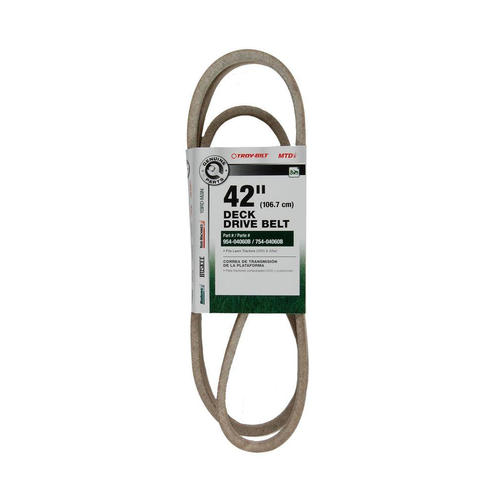 medium resolution of deck drive belt for 42 in lawn tractors 2005 and after