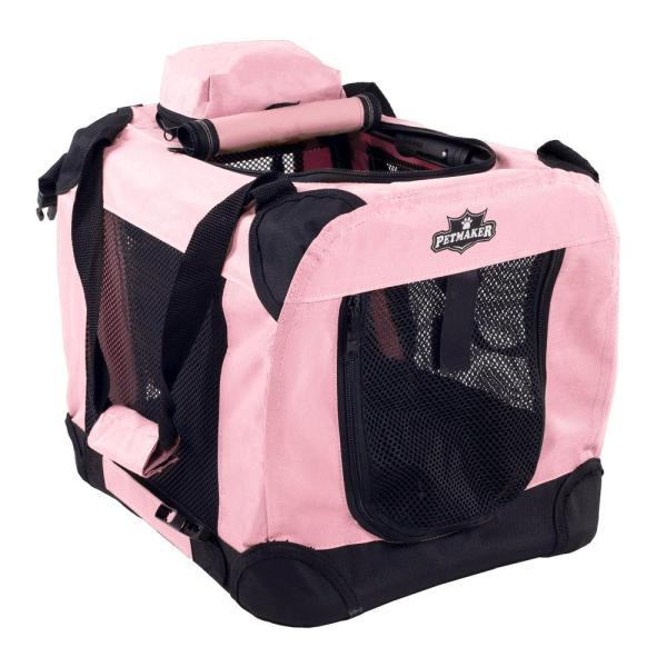 Petmaker Pink Portable Pet Crate With Soft Sides - Mini
