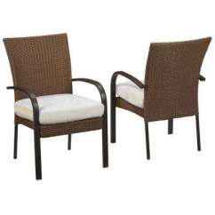 Stackable Metal Patio Chairs Black Bean Bag Chair Furniture Attached Ties Outdoor Dining Corranade Custom Wicker 2 Pack With Cushions Included Choose