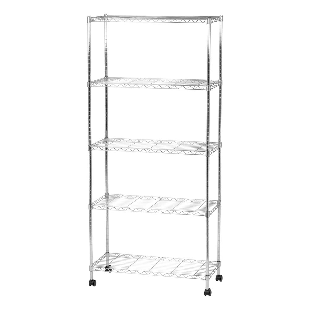 IRIS 14 in. x 32 in. x 69 in. Wide Wire Metal 5-Tier