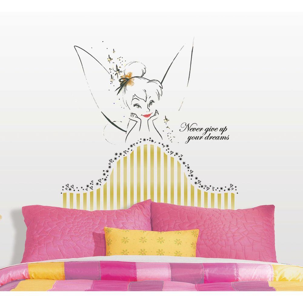 in x in disney fairies tinkerbell headboard piece peel