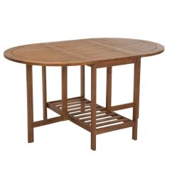 Folding Dining Table With Chair Storage Swivel Effect Cosco Intellifit Acacia Brown Wood Drop Leaf Patio
