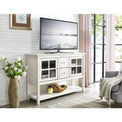 White Sideboards For Living Room Hgtv Decorating Ideas Walker Edison Furniture Company 52 In Antique Wood Console Table Buffet Tv Stand