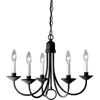 Progress Lighting 5-Light Textured Black Chandelier-P4008 ...