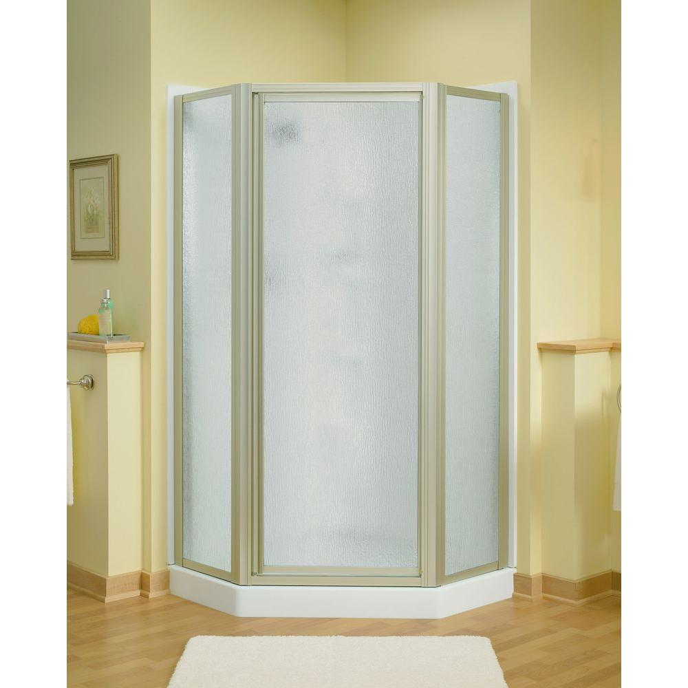 STERLING Intrigue 27916 in x 72 in NeoAngle Shower Door in Nickel with HandleSP2276A38N