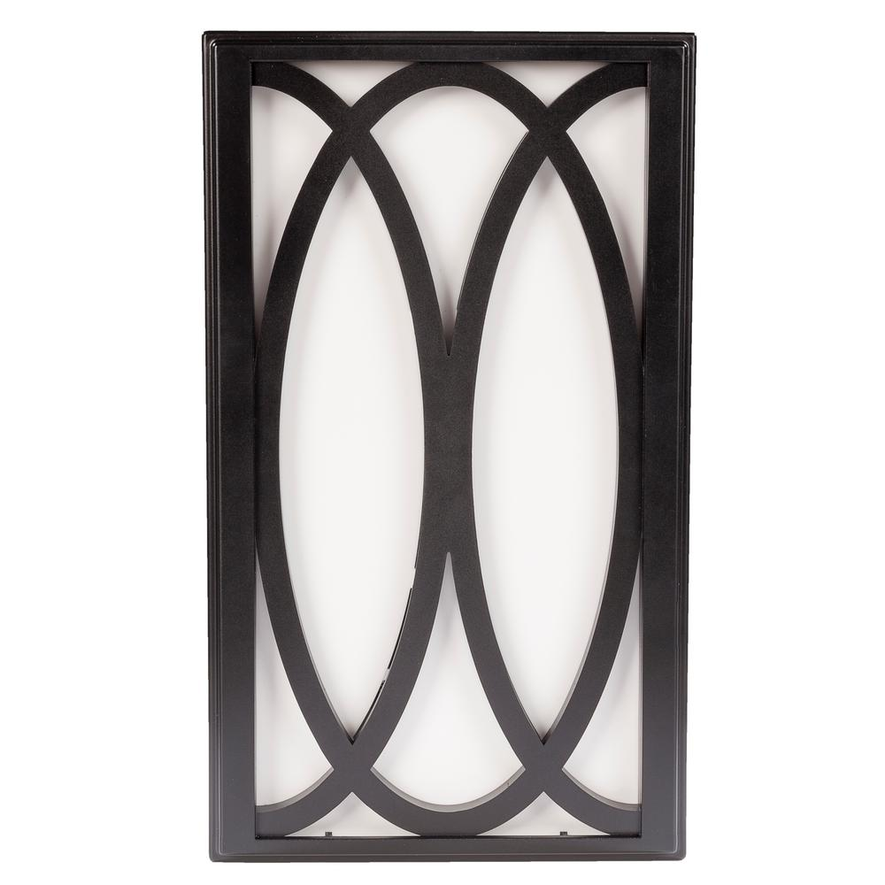 hight resolution of hampton bay wireless or wired door bell in black frame with white insert