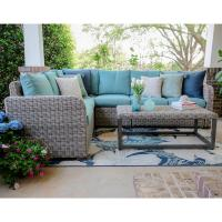 Leisure Made Forsyth 5-Piece Wicker Outdoor Sectional Set ...