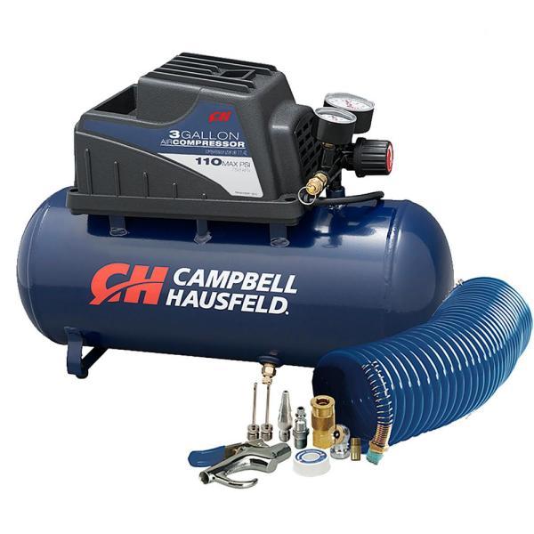 Campbell Hausfeld 3 Gal. Horizontal Air Compressor-fp209499av - Home Depot
