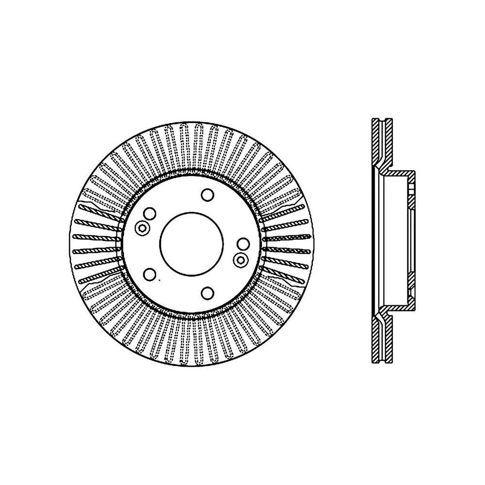 Centric Disc Brake Rotor 2010-2011 Kia Soul 1.6L 2.0L-121
