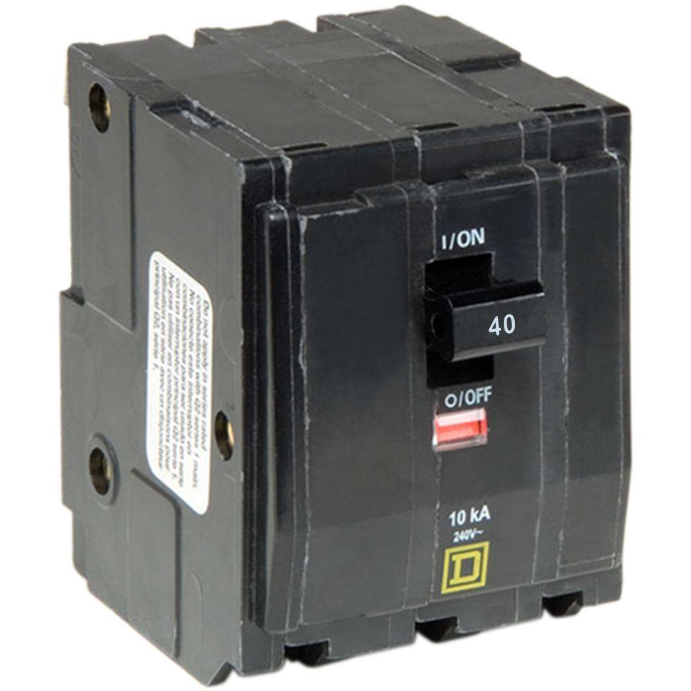 Qo 45 Amp 3pole Plugin Circuit Breakerqo345cp The Home Depot