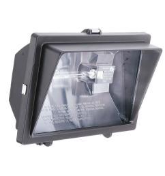 300 watt or 500 watt quartz outdoor halogen bronze visored floodlight [ 1000 x 1000 Pixel ]