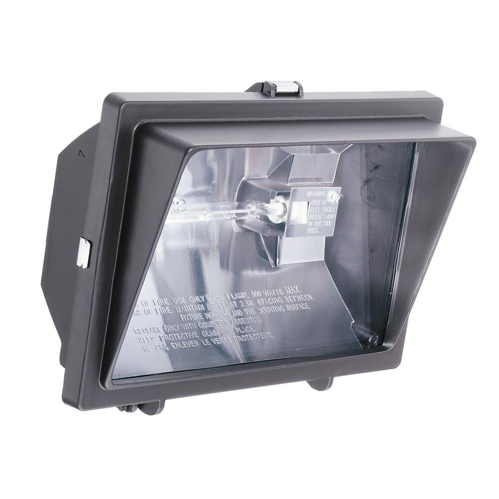 medium resolution of 300 watt or 500 watt quartz outdoor halogen bronze visored floodlight