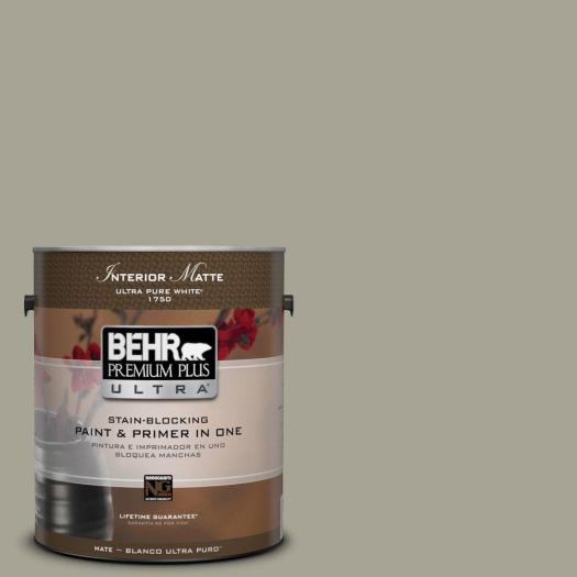 Behr Premium Plus Ultra Home Decorators Collection 1 Gal Hdc Nt 01 Woodland Sage Flat Matte Interior Paint 175401 The