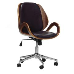 Modern Grey Leather Office Chair Hon Big And Tall Chairs Baxton Studio Watson Black Faux 28862 4668 Hd