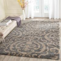 Safavieh Florida Shag Gray/Beige 8 ft. 6 in. x 12 ft. Area ...