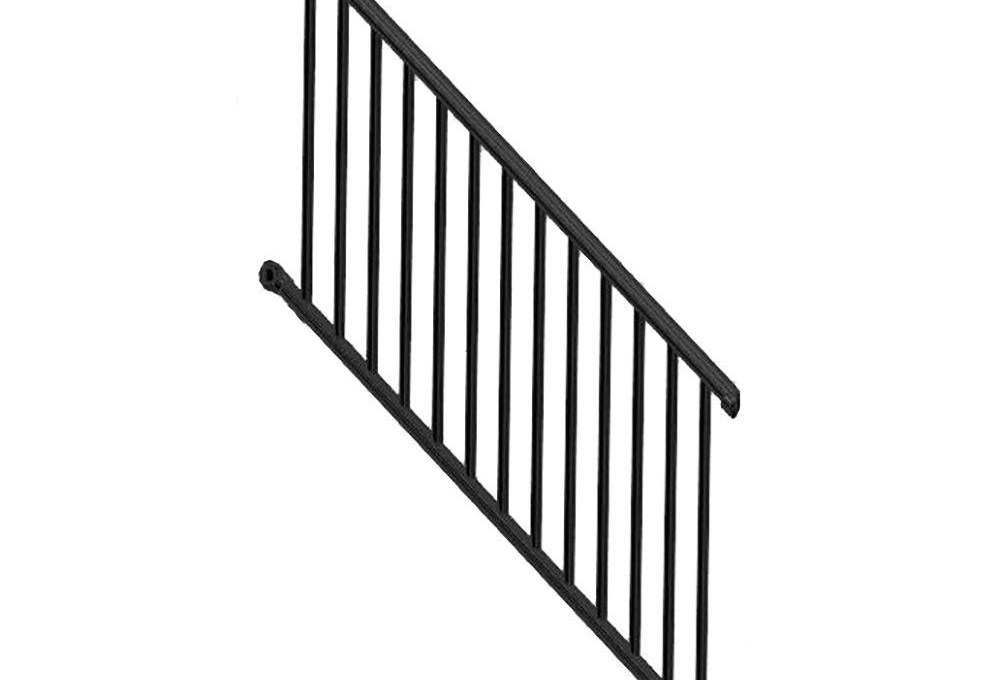 Weatherables Classic Square 3 Ft H X 97 1 4 In W   Outdoor Stair Railing Home Depot