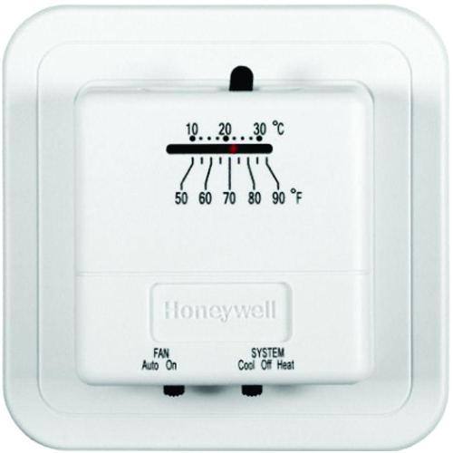 small resolution of economy heat cool manual thermostat