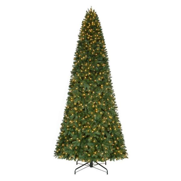Home Accents Holiday 12 Ft. Pre-lit Led Morgan Pine Quick-set Artificial Christmas Tree With