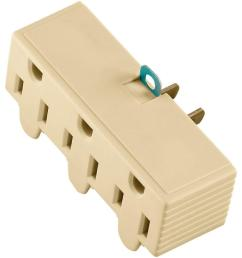15 amp 125 volt 3 outlet grounding adapter with lug ivory [ 1000 x 1000 Pixel ]