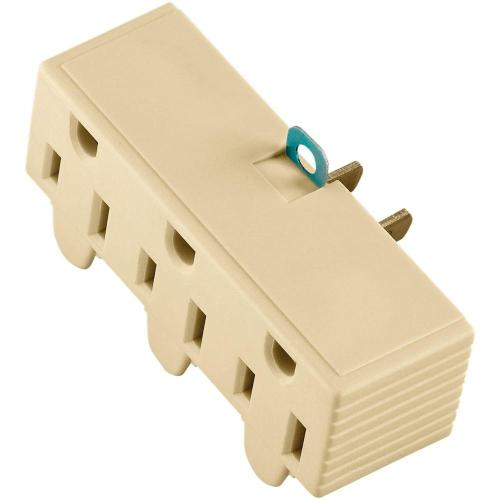 small resolution of 15 amp 125 volt 3 outlet grounding adapter with lug ivory