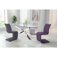 Purple Upholstered Dining Chairs 2 Person Rocking Chair Zuo Hyper Polyblend Set Of 100287 The Home Depot