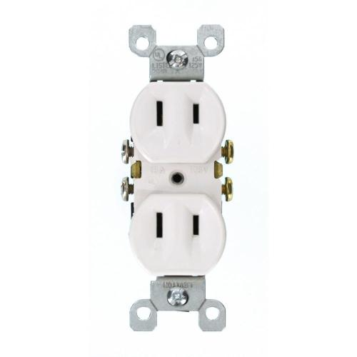 small resolution of leviton 15 amp 2 wire duplex outlet white