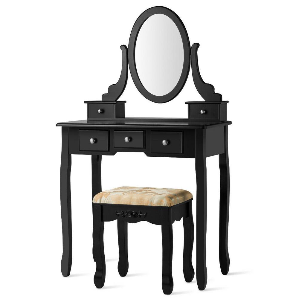 black makeup vanities bedroom