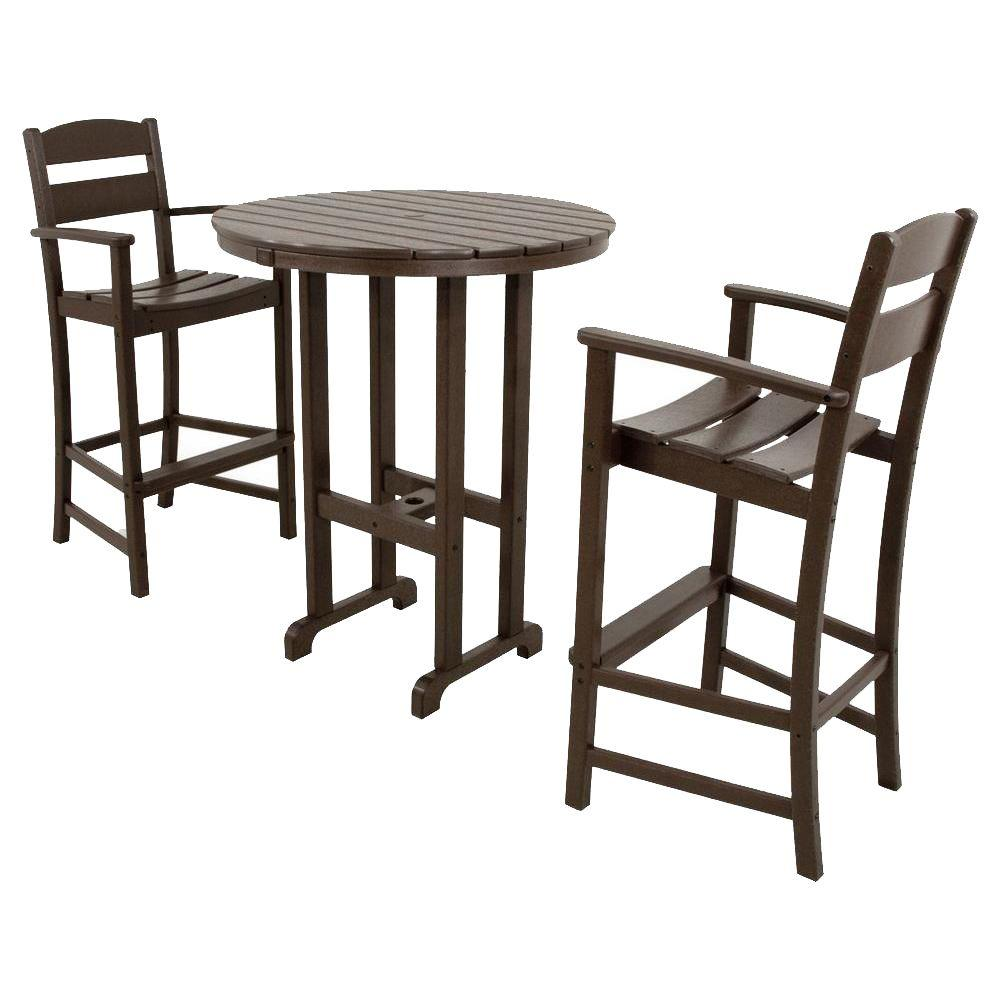 pub table and chairs 3 piece set 2 gabriel gundacker metal vine ivy terrace classics mahogany plastic outdoor patio bar