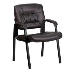 Office Side Chairs For Tall People Flash Furniture Brown Leather Executive Chair With Black Frame Finish
