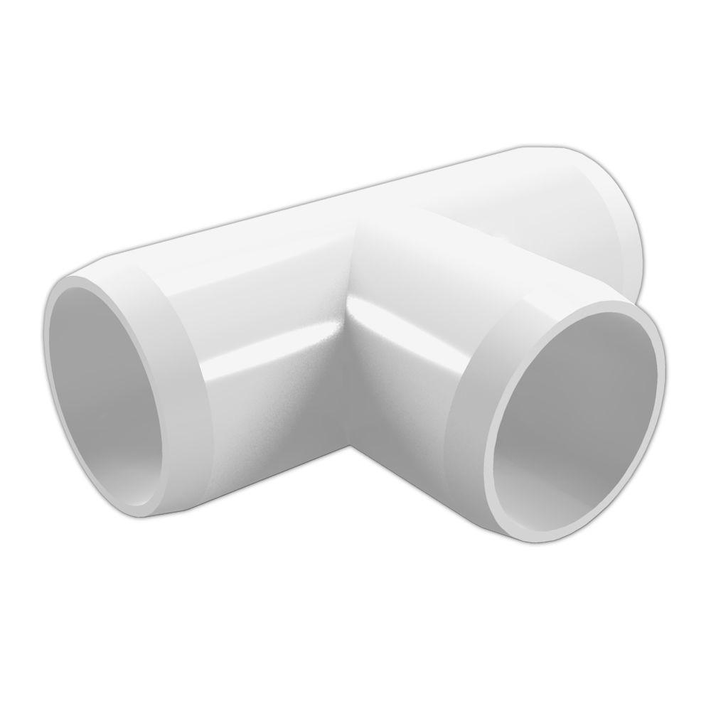 Formufit 114 In Furniture Grade Pvc Tee In White (4