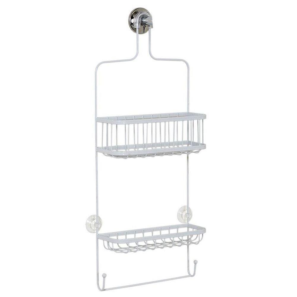 Zenna Home 7617WW, Over-the-Showerhead Caddy, White ZENITH