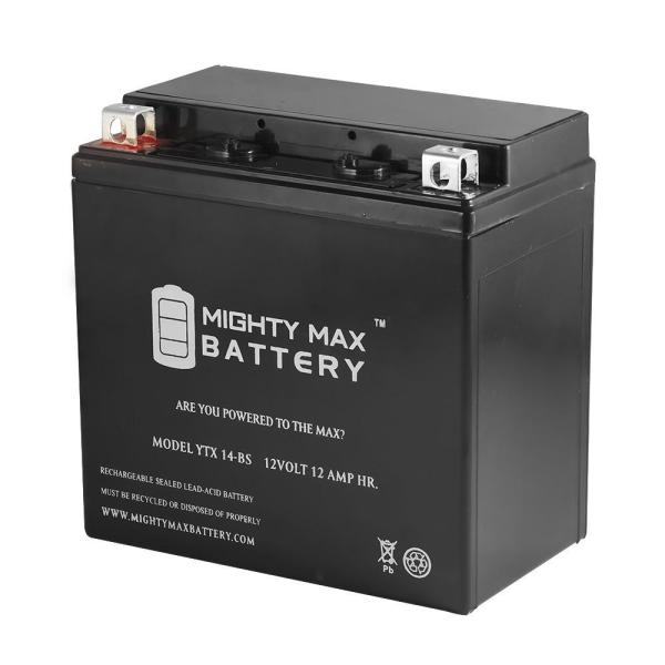 Mighty Max Battery 12-volt 12 Ah 200 Cca Rechargeable Sealed Lead Acid Sla Powersport