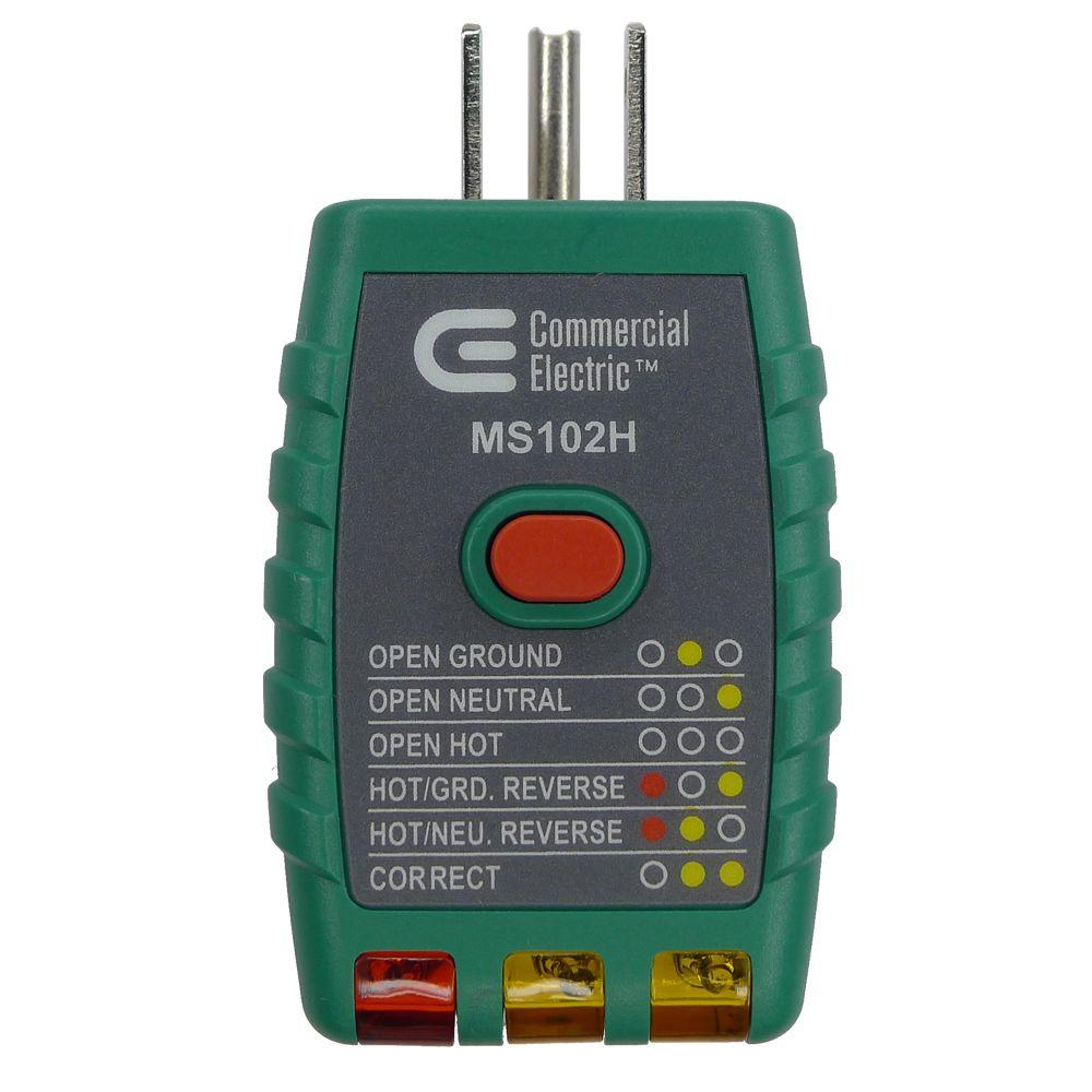 medium resolution of commercial electric tools gfci outlet tester green