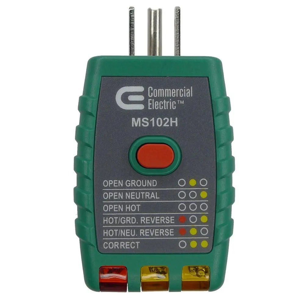 hight resolution of commercial electric tools gfci outlet tester green