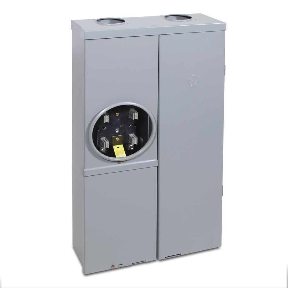 medium resolution of ge 100 amp 16 space 32 circuit ring type meter socket load center 100 amp meter socket wiring
