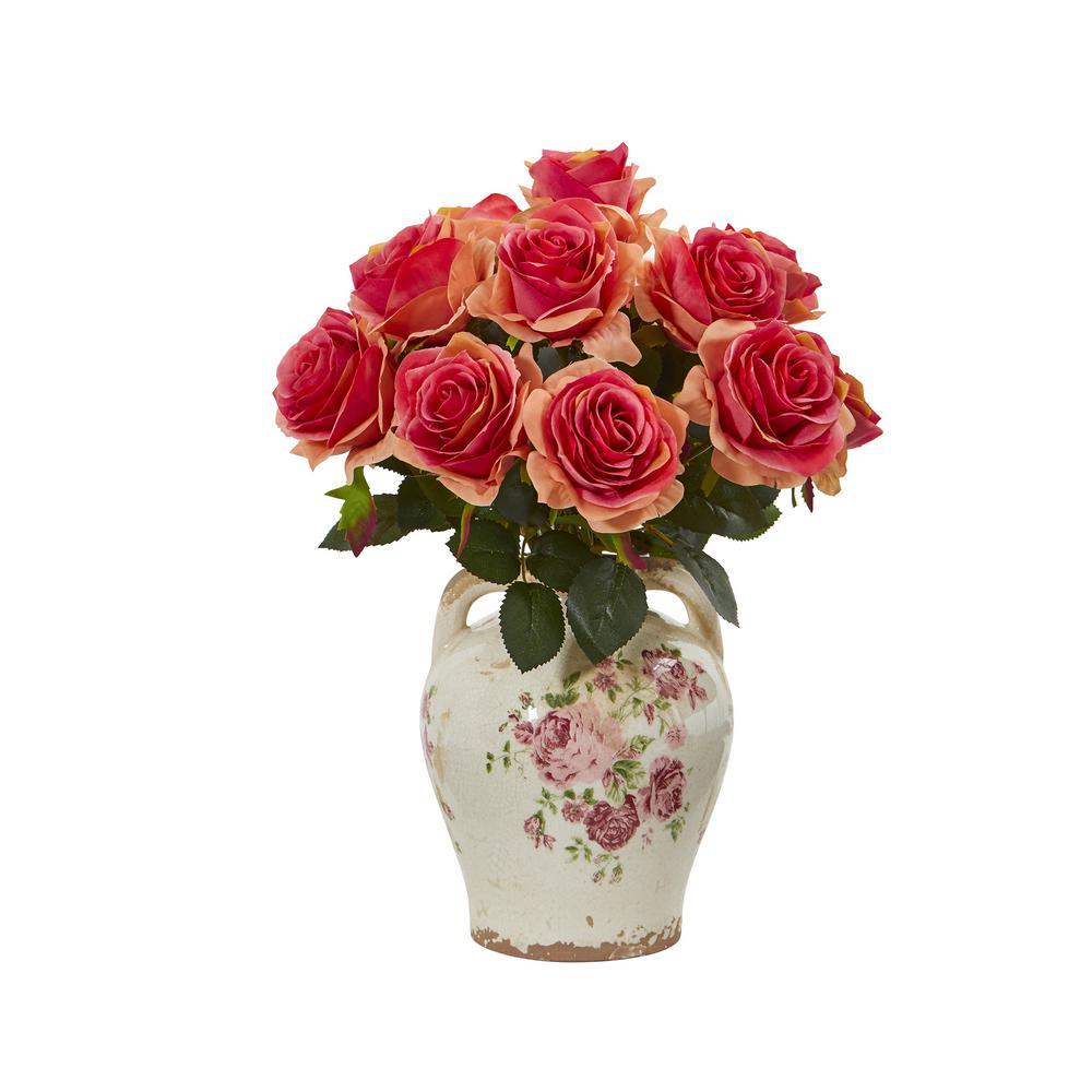 16 in rose artificial