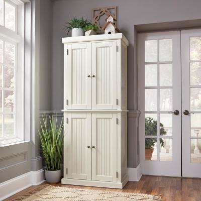 furniture kitchen pantry island with built in seating pantries dining room the home depot nantucket distressed white food