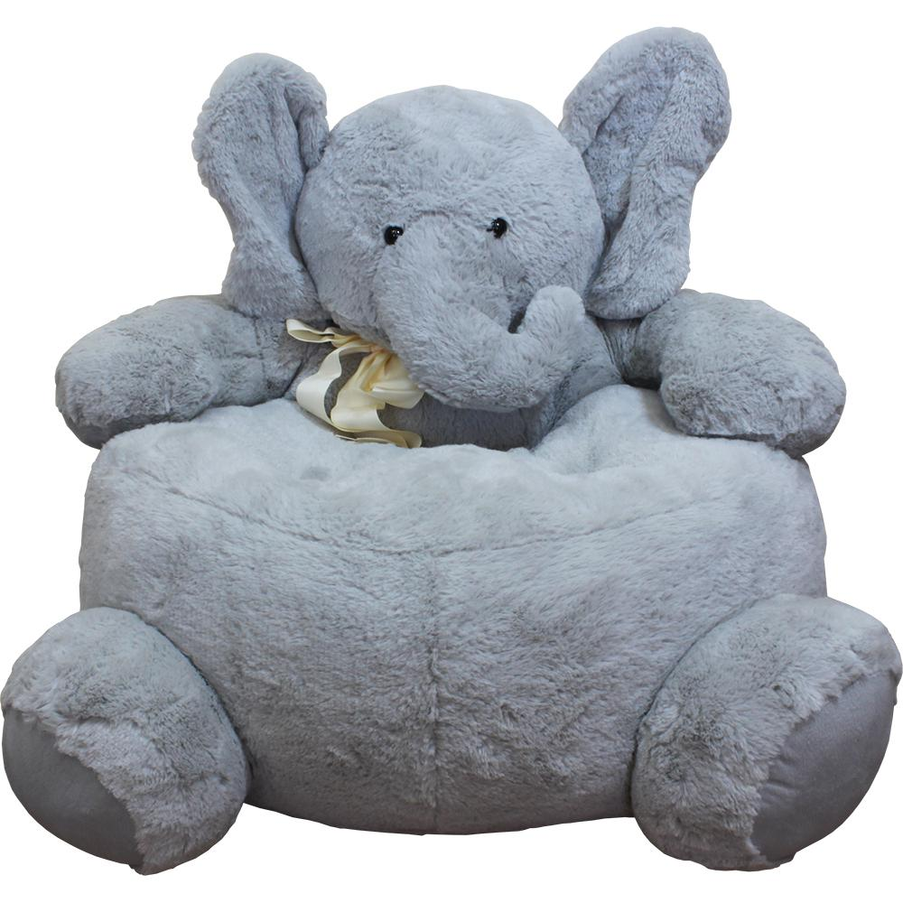 Gray Plush Kids Elephant ChairELEPHANTCHAIR  The Home Depot