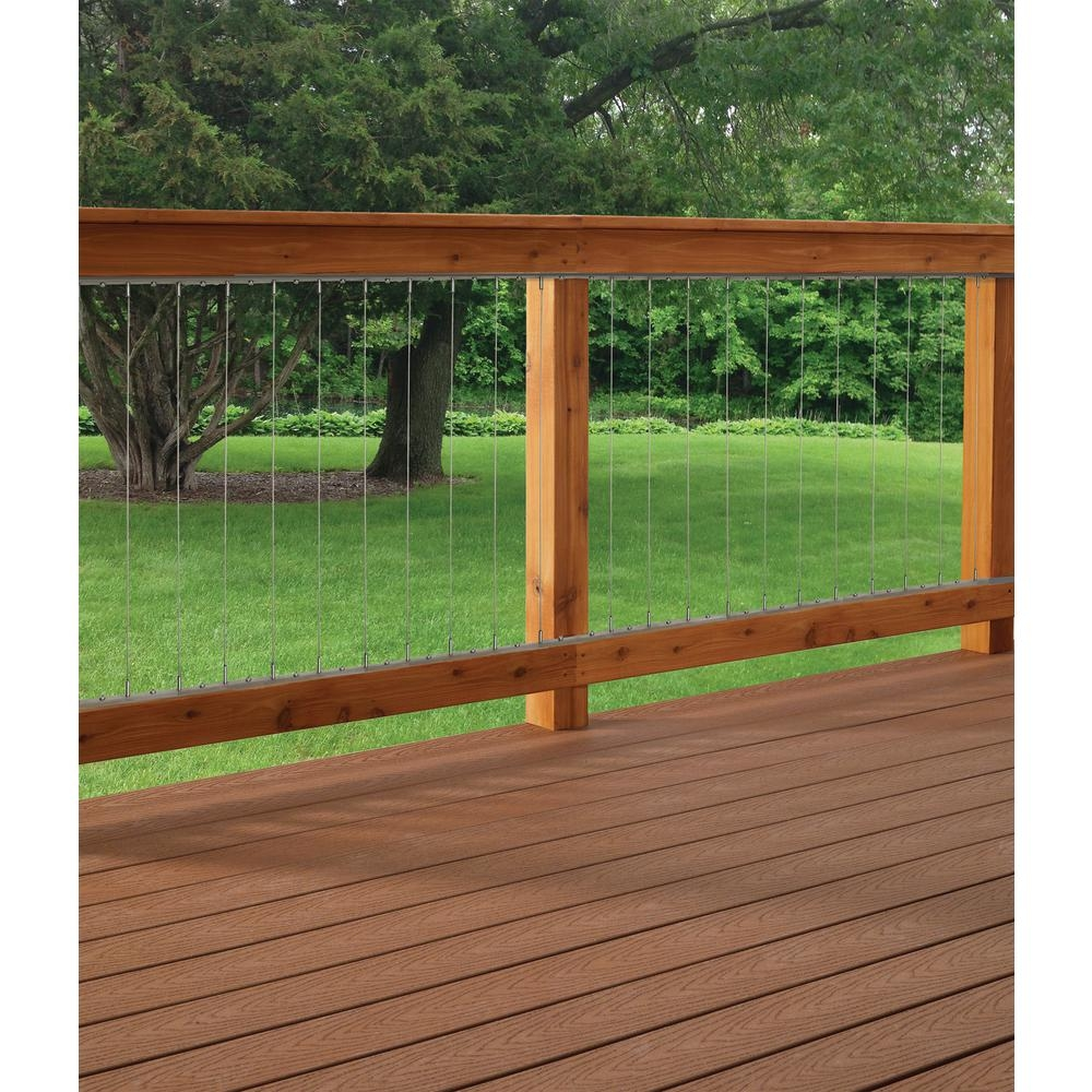 Vertical Stainless Steel Cable Railing Kit For 42 In High | Metal Handrail Home Depot | Deck Stairs | Outdoor Handrails | Balusters | Porch Railings | Aluminum Railing