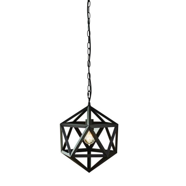 Hampton Bay 1-Light Bronze Outdoor Pendant Light (Bulb