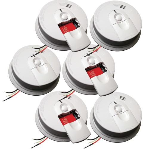 small resolution of hardwire smoke detector with 9v battery backup and front load battery door 6 pack