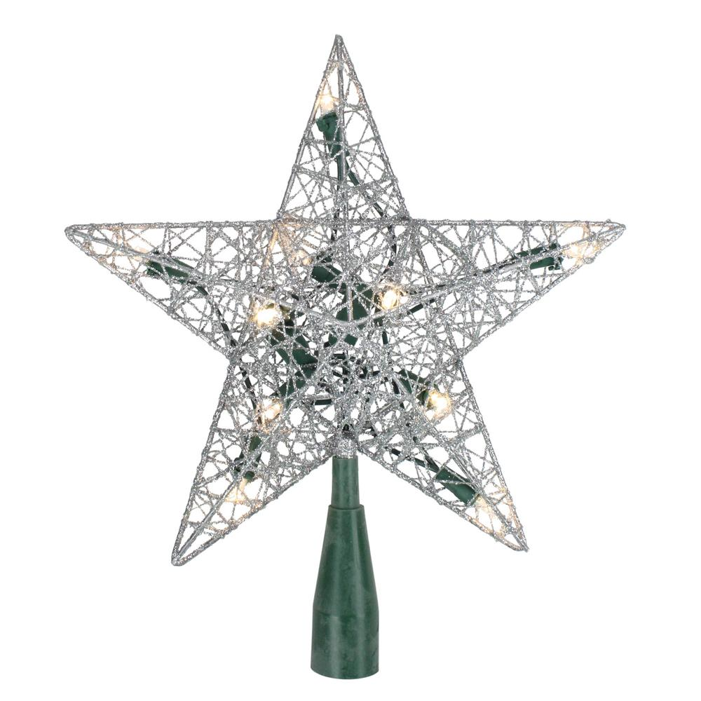 Northlight 9 in. Lighted Silver Wire Star Christmas Tree